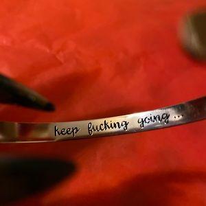 Jewelry - 💚 BOGO keep f@&$@ing going bracelet rose gold